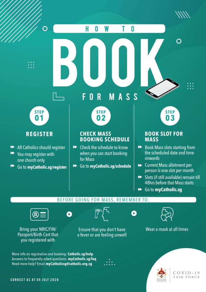 Booking for Mass
