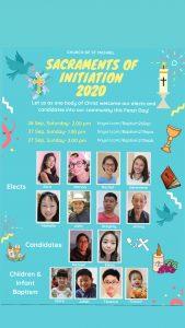 Sacraments of Initiation 2020