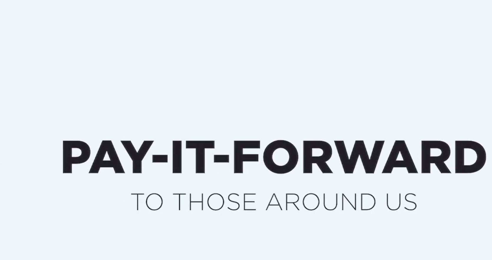 Pay It Forward- Advent 2020