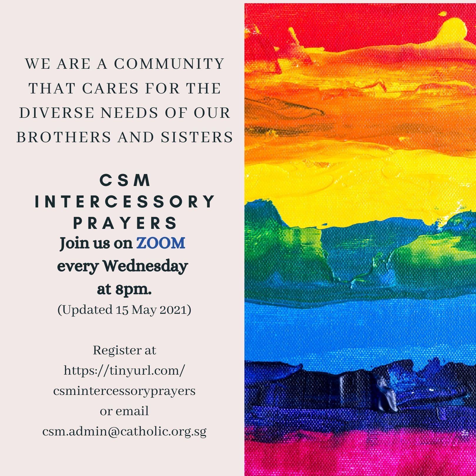 Intercessory Prayer Wed 8pm