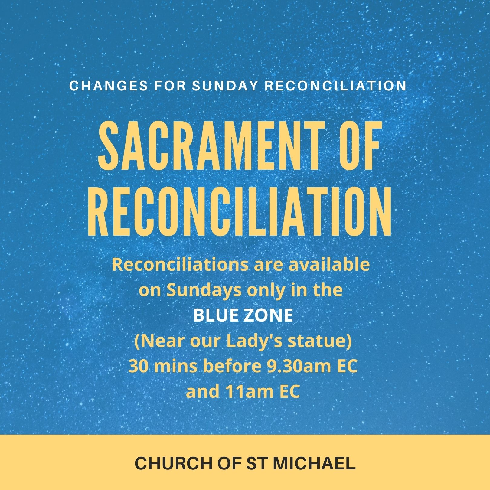 RECONCILIATION Blue Zone only