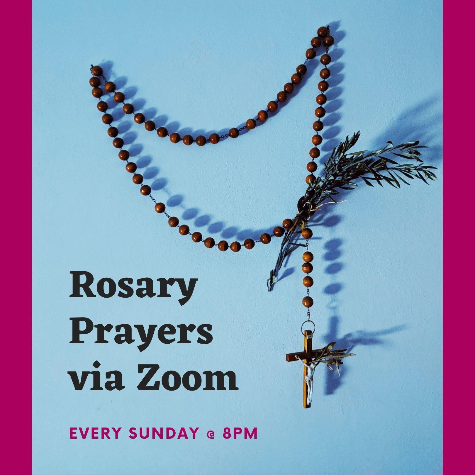 Rosary Prayers via Zoom