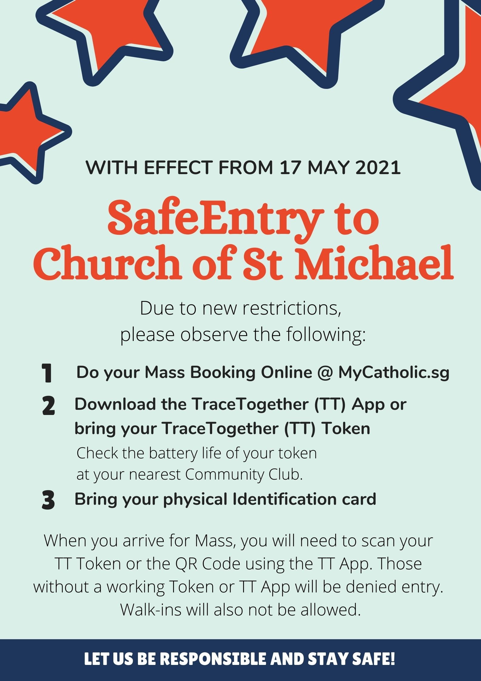 SafeEntry restrictions poster