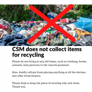 No recycling collections