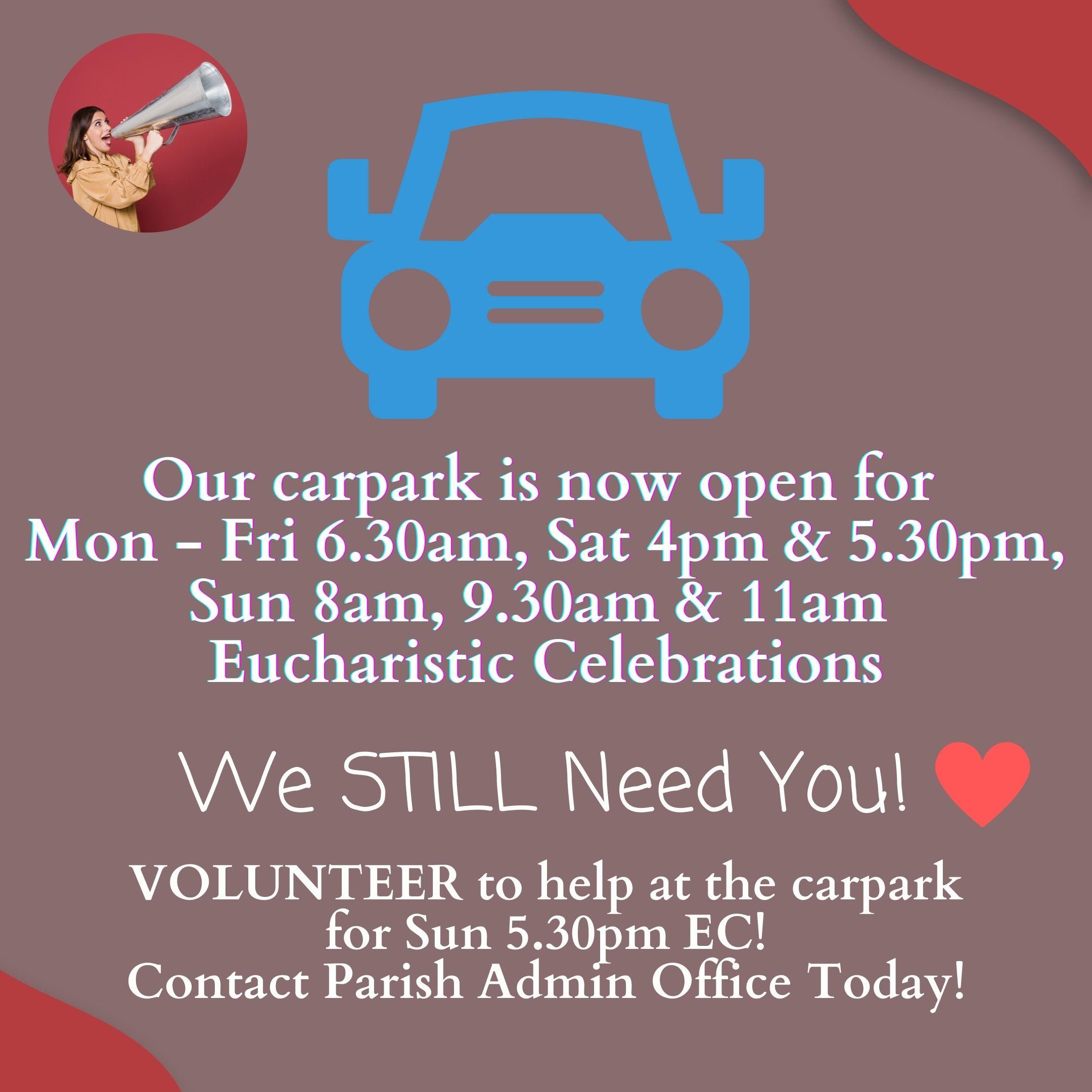 Church Carpark is Open at more ECs