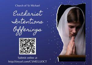 Eucharist Intentions 22 Oct